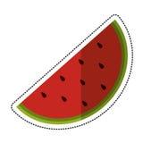 Cartoon watermelon juicy fruit icon. Vector illustration eps 10 Royalty Free Stock Photos