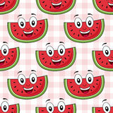 Cartoon Watermelon Seamless Pattern Stock Photography