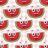Cartoon Watermelon Seamless Pattern stock illustration