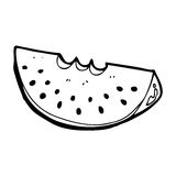 Cartoon watermelon slice Royalty Free Stock Photos