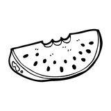 Cartoon watermelon slice Stock Images
