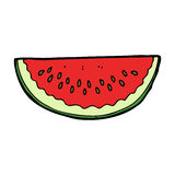Cartoon watermelon slice Royalty Free Stock Image