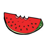 Cartoon watermelon slice Stock Photo