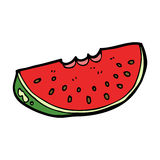 Cartoon watermelon slice Stock Photography