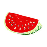 Cartoon watermelon slice Stock Photos