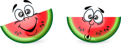 Cartoon watermelon,vector Stock Photography