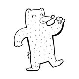 Cartoon waving bear Royalty Free Stock Photos