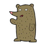 cartoon waving bear Stock Photo