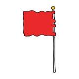 Cartoon waving flag Royalty Free Stock Photo