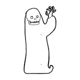 Cartoon waving halloween ghoul Royalty Free Stock Images