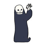 Cartoon waving halloween ghoul Royalty Free Stock Photography