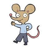 cartoon waving mouse Royalty Free Stock Photos