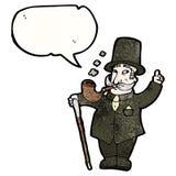 Cartoon wealthy gentleman Stock Photography