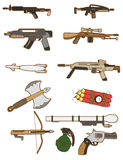 Cartoon weapon icon. Vector drawing Stock Image