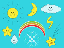 Cartoon weather Stock Photography