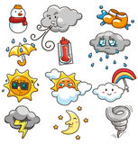 Cartoon weather icon. Vector drawing Stock Photography