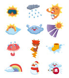 Cartoon weather icon Stock Photo
