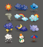 Cartoon weather icon Royalty Free Stock Image