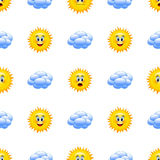 Cartoon weather icons. Royalty Free Stock Images