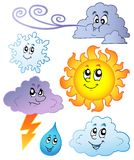 Cartoon weather images Stock Photography