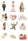 Cartoon wedding icon Stock Photography