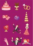 Cartoon Wedding icon Royalty Free Stock Image