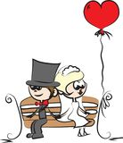 Cartoon wedding picture,vector Stock Images