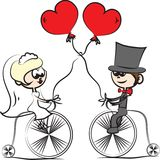 Cartoon wedding picture,vector Stock Photo