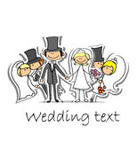 Cartoon wedding picture,vector Royalty Free Stock Image