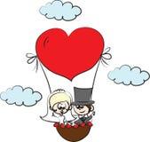 Cartoon wedding picture,vector Stock Images