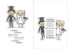 Cartoon wedding picture,vector Royalty Free Stock Photo
