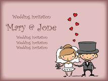 Cartoon wedding pictures,vector Royalty Free Stock Photography