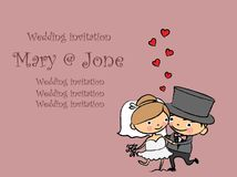 Cartoon wedding pictures,vector Royalty Free Stock Images