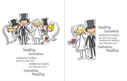 Cartoon wedding pictures,vector Royalty Free Stock Image