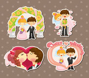 Cartoon wedding set Royalty Free Stock Images