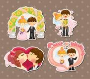 Cartoon wedding set Royalty Free Stock Images