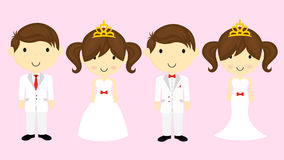 Cartoon wedding Stock Photos
