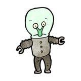Cartoon weird alien Stock Images