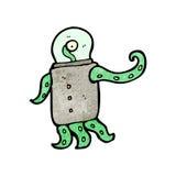Cartoon weird alien Royalty Free Stock Photo