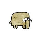 cartoon weird alien animal Stock Images