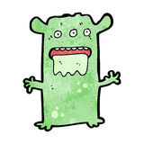 Cartoon weird alien monster Stock Image