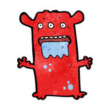 Cartoon weird alien monster Royalty Free Stock Images