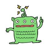 Cartoon weird little alien Royalty Free Stock Image