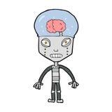 Cartoon weird robot Royalty Free Stock Photography