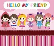 Cartoon welcome card Stock Image