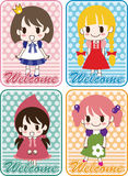 Cartoon welcome card Stock Photography
