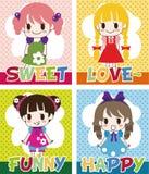 Cartoon welcome card Stock Photo