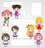 Cartoon welcome card Royalty Free Stock Photo