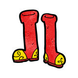 Cartoon wellington boots Royalty Free Stock Photo