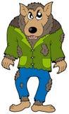 Cartoon werewolf. On white background -  illustration Stock Images